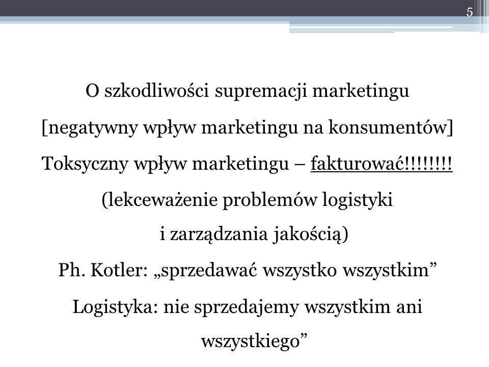 O szkodliwości supremacji marketingu [negatywny wpływ marketingu na konsumentów] Toksyczny wpływ marketingu – fakturować!!!!!!!.